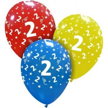 Palloncino in Lattice Rotondo 30 cm. Stampa 2° Compleanno Assortiti