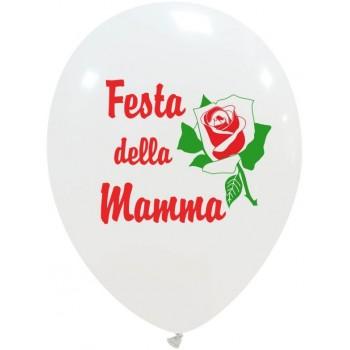 Palloncino in Lattice Rotondo 30 cm. Stampa Festa della Mamma