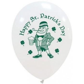 Palloncino in Lattice Rotondo 30 cm. Stampa ST. Patricks Day