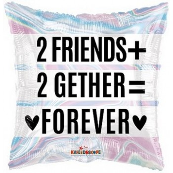 Palloncino Mylar 45 cm. 2 Friends 2 Gether Holographic