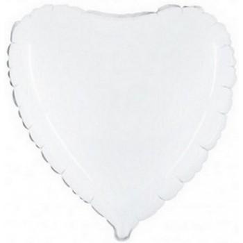 Palloncino Mylar 45 cm. Cuore Bianco