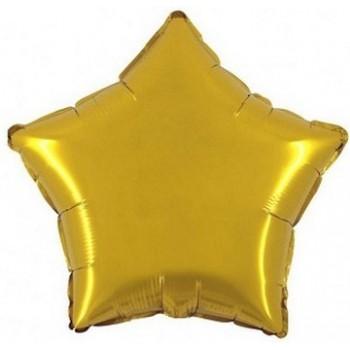 Palloncino Mylar 45 cm. Stella Oro