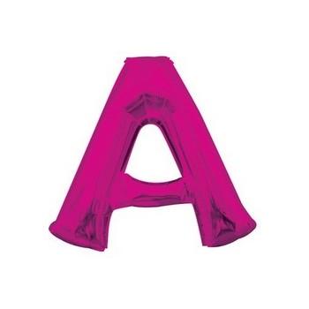 Palloncino Mylar Lettera A Media - 40 cm. Fucsia Anagram