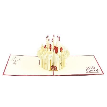 Biglietti Auguri Origami - Meringata 15,5 x 15,5 cm.