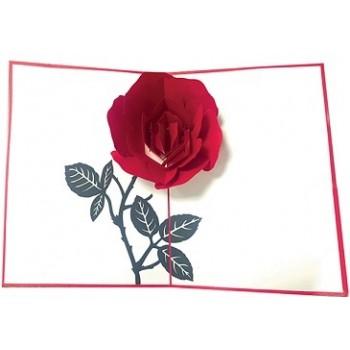 Biglietti Auguri Origami - Rosa Rossa