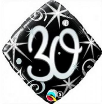 Palloncino Mylar 45 cm. 30° Elegant Sparkle Swirl