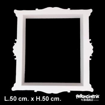 Cornice Selfie Bianca profondità 5/8 cm. max - L.50 cm. max - H.50 cm. circa