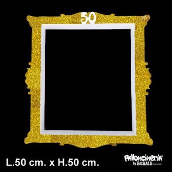 Cornice Selfie glitter personalizzabile profondità 5/8 cm. max - L.50 cm. max - H.50 cm. circa