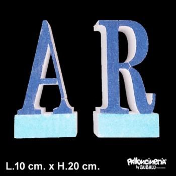 Lettera singola colore autoportante personalizzabile colore o glitter profondità 5 cm. max - L.10 cm. max - H.20 cm.