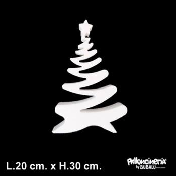 Sagoma Albero di Natale A Bianco autoportante profondità 5 cm. max - L.20 cm. max - H.30 cm.