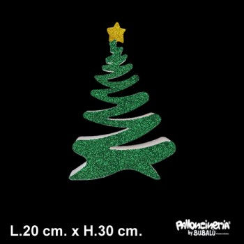 Sagoma Albero di Natale A Decorato autoportante personalizzabile profondità 5 cm. max - L.20 cm. max - H.30 cm.