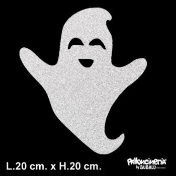 Sagoma Fantasmino Glitterato autoportante personalizzabile profondità 5 cm. max - L.20 cm. max - H.20 cm.