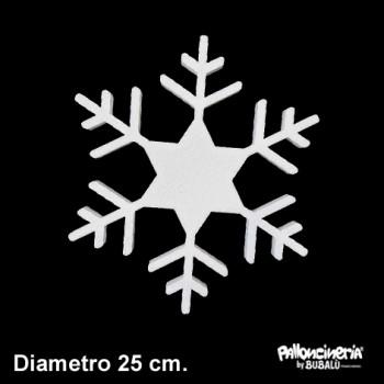 Sagoma ghiaccio A Bianca profondità 5 cm. max - diametro 25 cm.