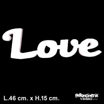 Sagoma Love Bianca autoportante personalizzabile profondità 5 cm. max - L.46 cm. max - H.15 cm.