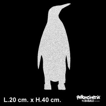 Sagoma Pinguino Decorato autoportante personalizzabile profondità 5 cm. max - L.20 cm. max - H.40 cm.