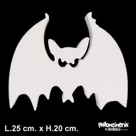 Sagoma Pipistrello Bianca autoportante personalizzabile profondità 5 cm. max - L.25 cm. max - H.20 cm.