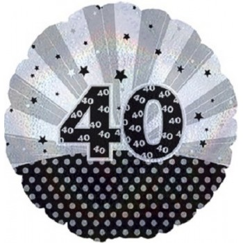 Palloncino Mylar 45 cm. 40° Age Related Dazzeloon