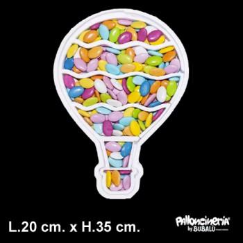 Sagoma porta confetti o palloncini personalizzabile profondità 5 cm. max - L.20 cm. max - H.35 cm.+ SAGOMA INTERNA OMA