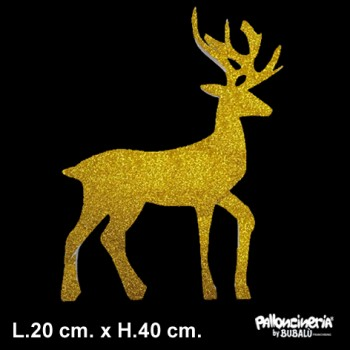 Sagoma Renna Decorata autoportante personalizzabile profondità 5 cm. max - L.20 cm. max - H.40 cm.