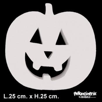 Sagoma zucca Bianca profondità 5 cm. max - L.25 cm. max - H.25 cm.