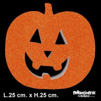 Sagoma zucca glitter o colore profondità 5 cm. max - L.25 cm. max - H.25 cm.