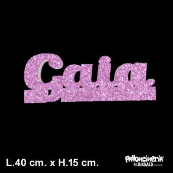 Scritta Nome A Glitter autoportante e personalizzabile, profondità 5 cm. max - L.40 cm. max - H.15 cm.