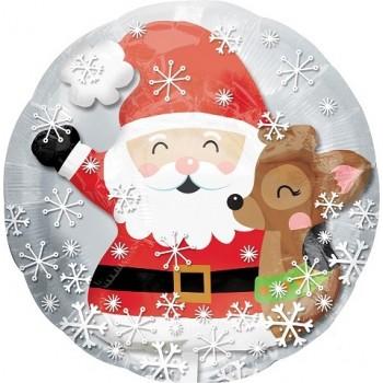 Palloncino Bubble 60 cm. Insider Santa & Cute Deer