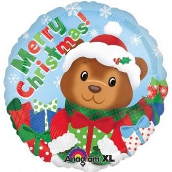 Palloncino Mylar 45 cm. Christmas Bear
