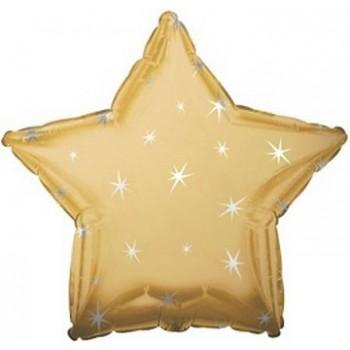 Palloncino Mylar 45 cm. Stella Sparkle Oro