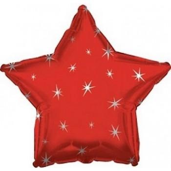Palloncino Mylar 45 cm. Stella Sparkle Rossa