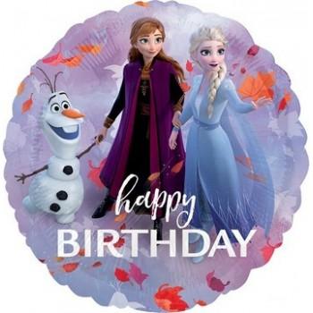 Palloncino Mylar 45 cm. Frozen 2 Happy Birthday