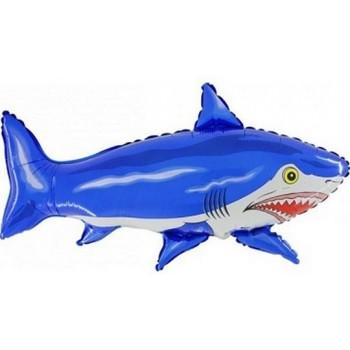Palloncino Mylar Super Shape 56 x 78 cm Squalo Blu 1 pz