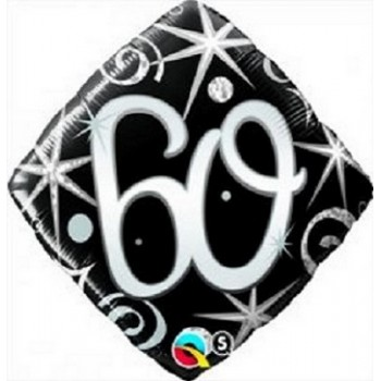 Palloncino Mylar 45 cm. 60° Elegant Sparkle Swirl