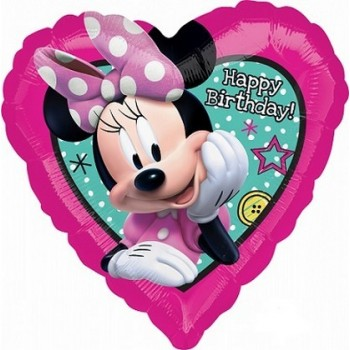 Palloncino Mylar 45 cm. Minnie Happpy Helpers Happy Birthday