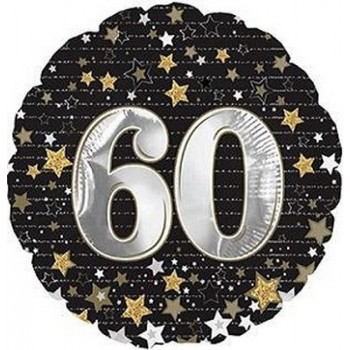 Palloncino Mylar 45 cm. 60° Happy Birthday Gold Number
