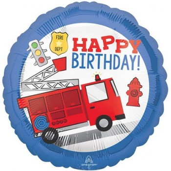 Palloncino Mylar 45 cm. First Responder Happy Birthday