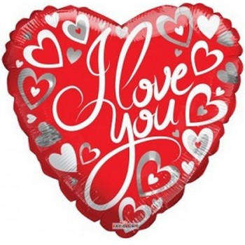 Palloncino Mylar 45 cm. I Love You Hearts