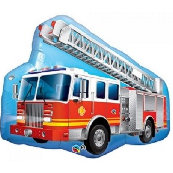 Palloncino Mylar Super Shape 91 cm. Red Fire Truck