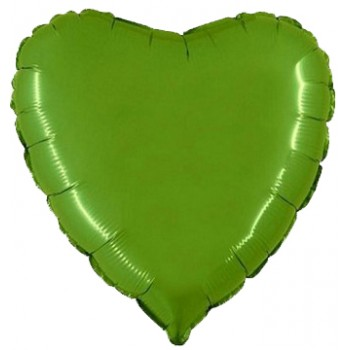 Palloncino Mylar 45 cm. Cuore Verde Lime