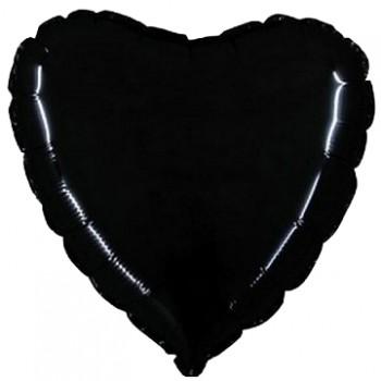Palloncino Mylar 45 cm. Cuore Nero