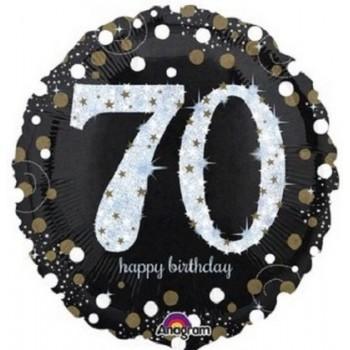 Palloncino Mylar 45 cm. 70° Age Sparkling Birthday