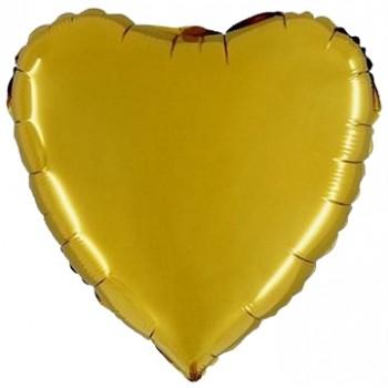 Palloncino Mylar 45 cm. Cuore Oro