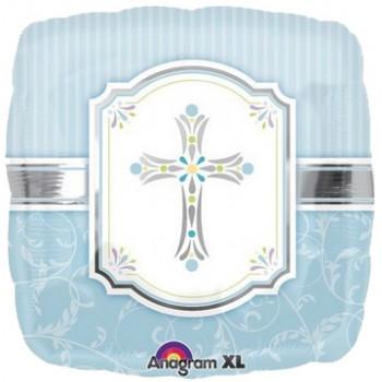 Palloncino Mylar 45 cm. Communion Blessings Blue