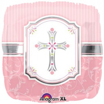 Palloncino Mylar 45 cm. Communion Blessings Pink