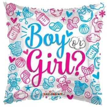 Palloncino Mylar 45 cm. Gender - Boy or Girl?