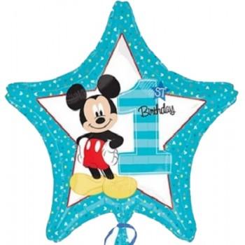 Palloncino Mylar 45 cm. Mickey Mouse 1° Birthday
