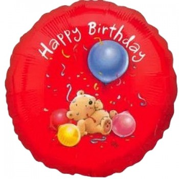 Palloncino Mylar 45 cm. R - Happy Birthday Roly Bear