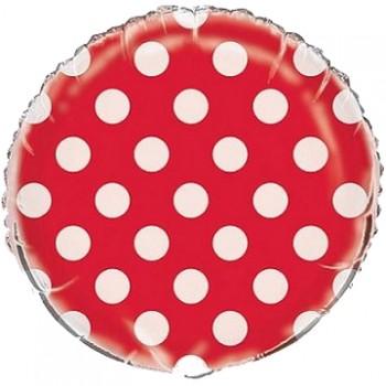 Palloncino Mylar 45 cm. R. Pois Lovely Red
