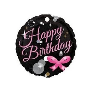 Palloncino Mylar Mini Shape 22 cm. Happy Birthday Bubbles