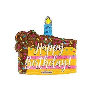 Palloncino Mylar Mini Shape 35 cm. Birthday Slice